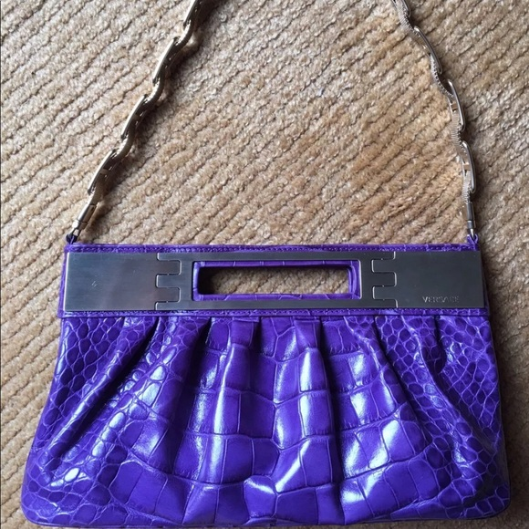 Versace Bags   Flash Sale Embossed Leather Clutch Bag   Poshmark bae04b9148